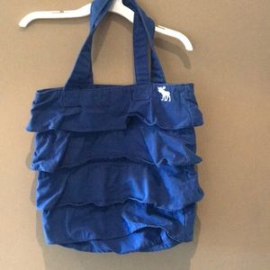 Abercrombie kids blue ruffle bag